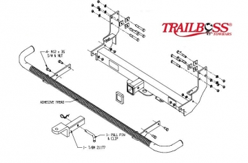 FITS VEHICLES WITH APPROX 920MM BETWEEN REAR CHASSIS RAILS