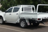 TRITON 2wd and 4wd DUAL CAB Trayback (vehicle without rear bumper step fitted)